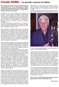 Journal Opus 30 - Extrait Page 5 - Claude Dorel